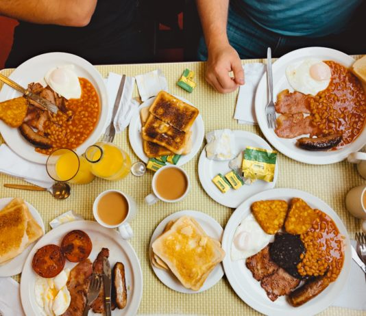 image of table with food